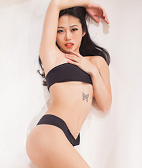 Demure young Japanese escort
